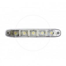 Комплект дневных ходовых огней DRL-504A отключение при включении ближнего света 5SMD*1W[High Power] Размеры: 160мм*45мм*24,5мм