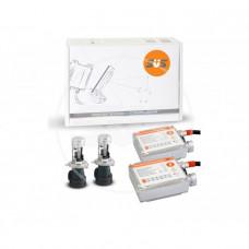 Комплект ксенонового оборудования (Блок  AC 9-16В 35Вт-2шт, Лампа БИКСЕНОНОВАЯ AC H4 4300K-2шт)