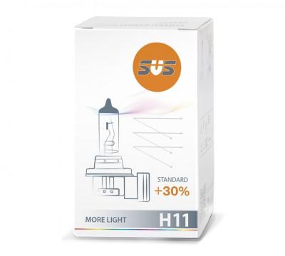 SVS. Лампа галогенная 0200004000 H11 12V 55W PGJ19-2 Standard +30%
