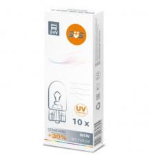 SVS. Лампа накаливания 0200075000 24V W5W W2.1х9.5d