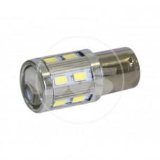 Комплект светодиодных ламп 1156-12SMD 5630 + 1*3Вт Белый с линзой