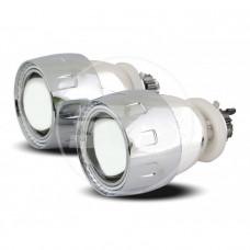 Комплект биксеноновых линз G1 2,5 дюйма 5000К Состав комплекта: 2 линзы, 2 лампы, CCFL, реле, герметик, адаптеры.