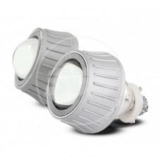 Комплект биксеноновых линз G3 3,0A дюйма 6000К Состав комплекта: 2 линзы, 2 лампы, CCFL, реле, герметик, адаптеры.