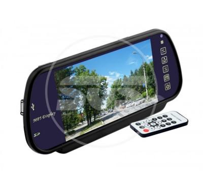 """Зеркало заднего вида с монитором +BLUETOOTH +MP5 экран TFT LCD, размер 7"""",питание 12В, TV система PAL/NTSC"""