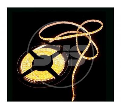 Светодиодная влагозащищенная лента, 5050-SMD,30LEDs/M,7.2W/m,IP65, 12V DC 5M- бобина Желтая
