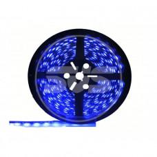 Светодиодная влагозащищенная лента, 5050-SMD,60LEDs/M,14.4W/m,IP65, 12V DC 5M- бобина Синяя