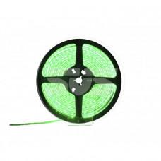 Светодиодная влагозащищенная лента, 5050-SMD,60LEDs/M,14.4W/m,IP65, 12V DC 5M- бобина Зеленая